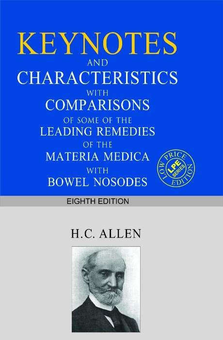HOMEOPATHY BOOK -KEYNOTES AND CHARACTERIS (S.ED - BY ALLEN HC