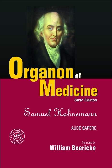 HOMEOPATHY BOOK -ORGANON OF MED. 6TH (S.E.) - BY HAHNEMANN SAMUEL