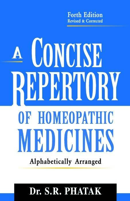HOMEOPATHY BOOK -CONCISE REPERTORY - BY PHATAK SR