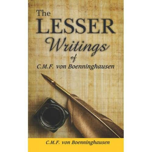 HOMEOPATHY BOOK -THE LESSER WRITINGS - BY BOENNINGHAUSEN