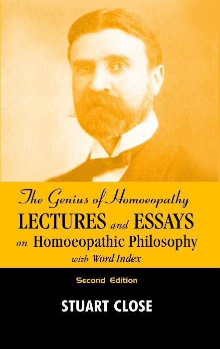 HOMEOPATHY BOOK -THE GENIUS OF HOMEO PHILOSOPHY - BY CLOSE STUART