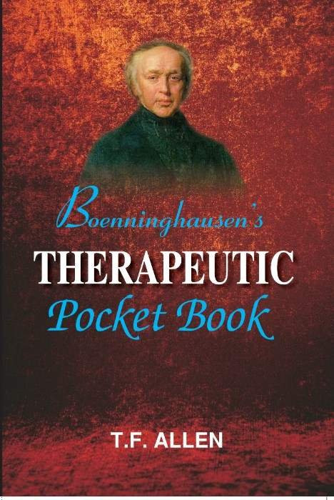 HOMEOPATHY BOOK -BOENNING.THERP. POCKET BOOK - BY ALLEN TF