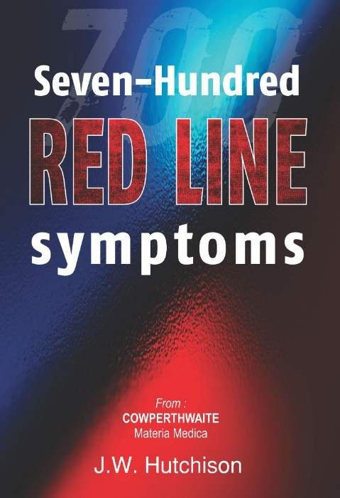 HOMEOPATHY BOOK -700 REDLINE SYMPTOMS - BY HUTCHISON JW