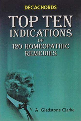 HOMEOPATHY BOOK -DECACHORDS TOP TEN INDICATIONS - BY CLARKE JOHN HENRY