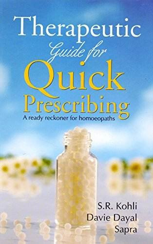 HOMEOPATHY BOOK -THERA. GUIDE FOR QUICK PRESCRI - BY DAYAL D
