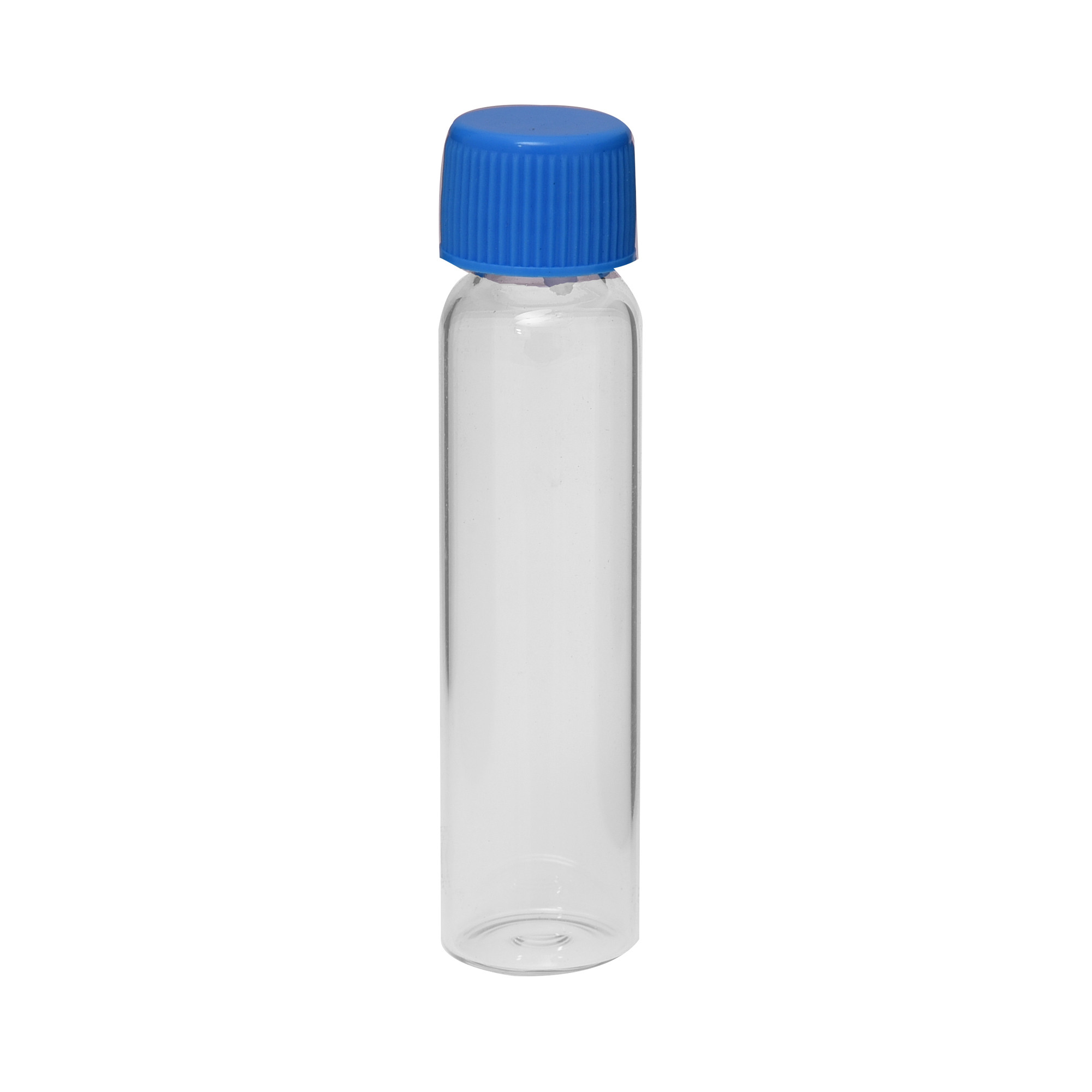 Empty Glass Vials - 9 ml - 2 Dram Blue Color Cap