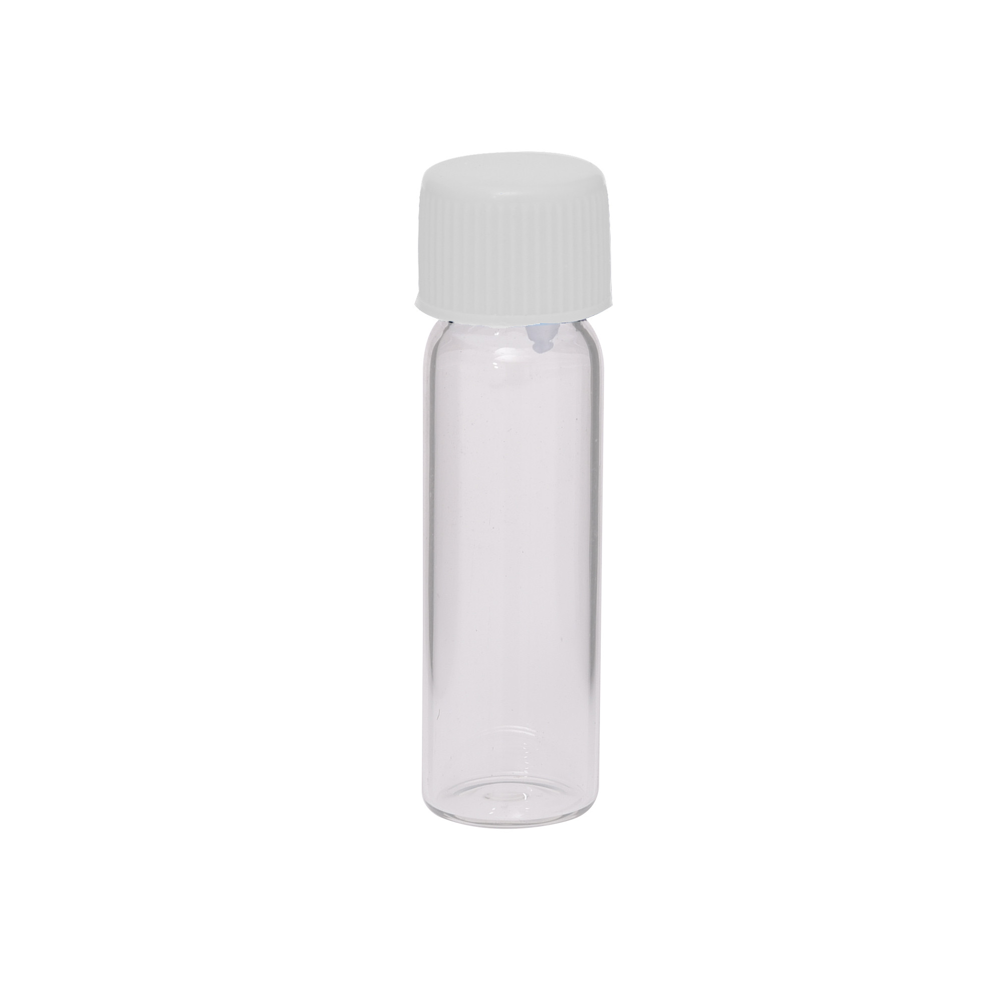 Empty Glass Vials - 5 ml - 1 Dram - White Color Cap