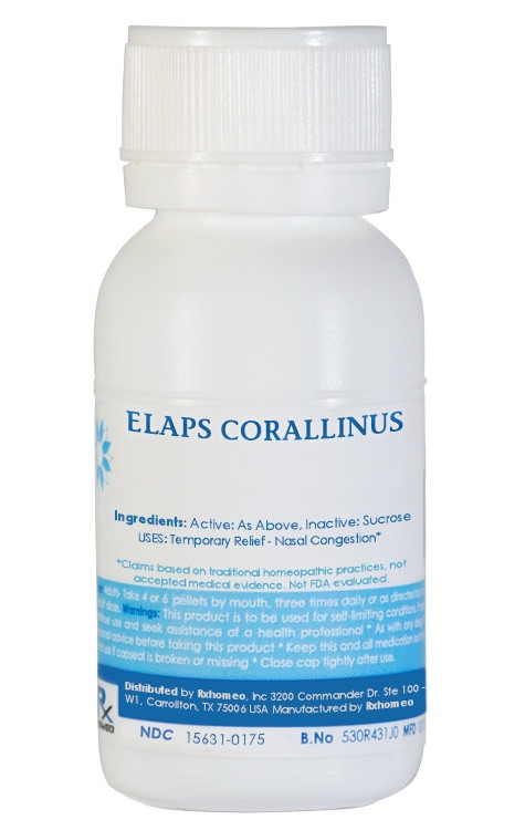 Elaps Corallinus Homeopathic Remedy