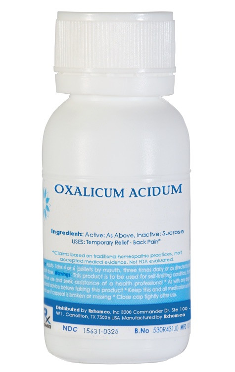Oxalicum Acidum Homeopathic Remedy