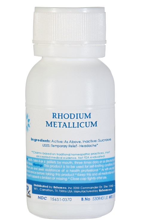 Rhodium Metallicum Homeopathic Remedy