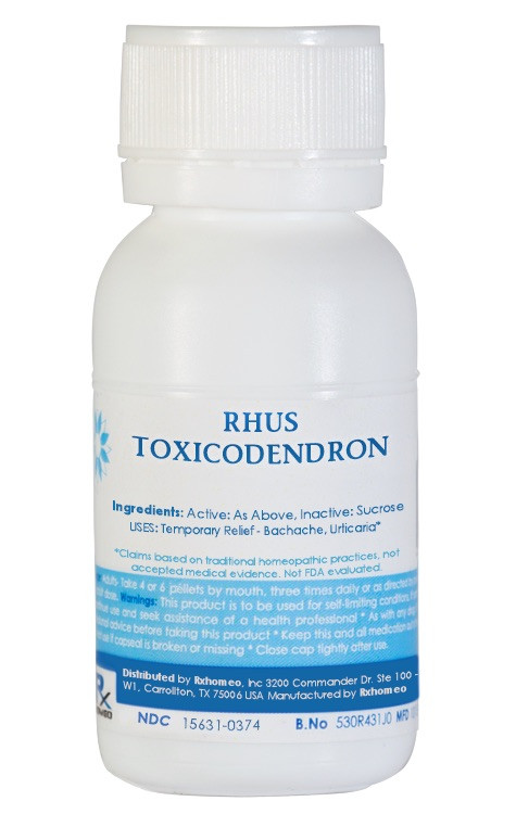 Rhus Tox Homeopathic Remedy