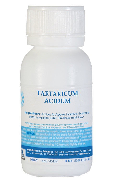 Tartaricum Acidum Homeopathic Remedy
