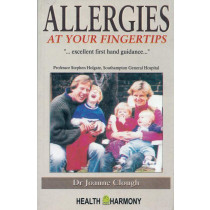 HOMEOPATHY BOOK -ALLERGIES AT YOUR FINGERTIPS - BY JOANNA CLOUGH